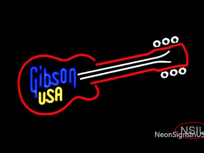 Gibson Guitar Custom Art Historic Neon Sign