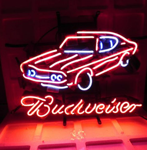 New Budweiser Car Auto Dealer Beer Bar Pub Neon Light Sign