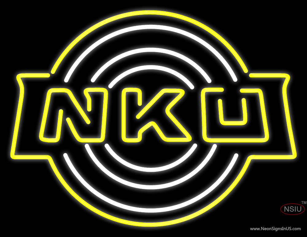 Northern Kentucky Norse Secondary Pres Logo Ncaa Neon Sign