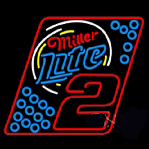Miller Lite Rusty Wallace 2003 Neon Sign