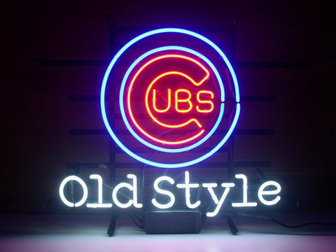 Old Style Chicago Cubs Neon Sign