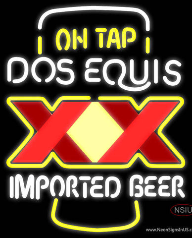 On Tap Dos Equis Neon Beer Sign