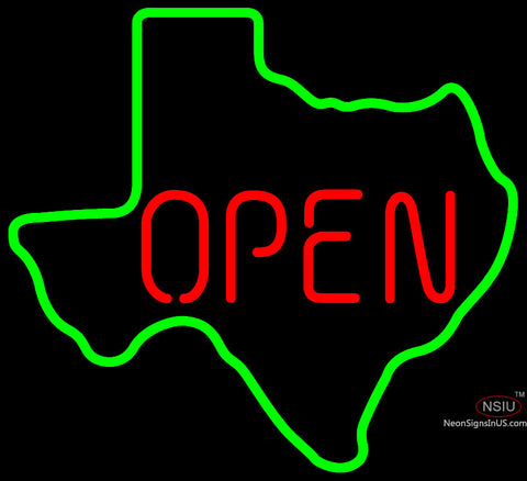 OPEN Texas State Neon Beer Sign x