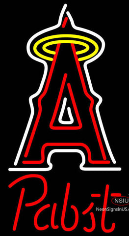 Pabst Los Angeles Angels Of Anaheim MLB Beer Neon Sign