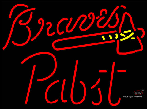 Pabst Atlanta Braves MLB Beer Neon Sign