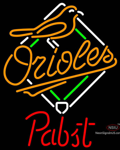 Pabst Baltimore Orioles MLB Beer Neon Sign