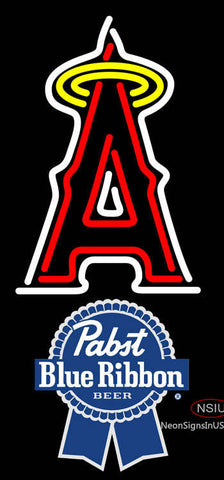 Pabst Blue Ribbon Anaheim Angels MLB Neon Sign