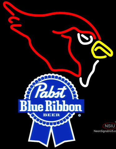 Pabst Blue Ribbon Arizona Cardinals NFL Neon Sign
