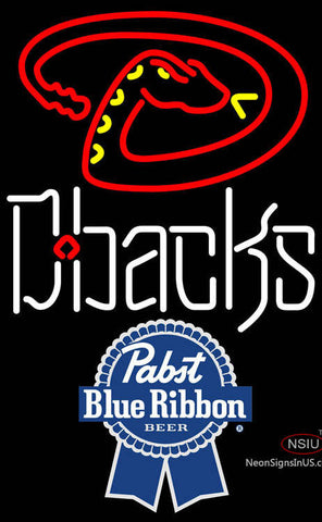 Pabst Blue Ribbon Arizona Diamondbacks MLB Neon Sign