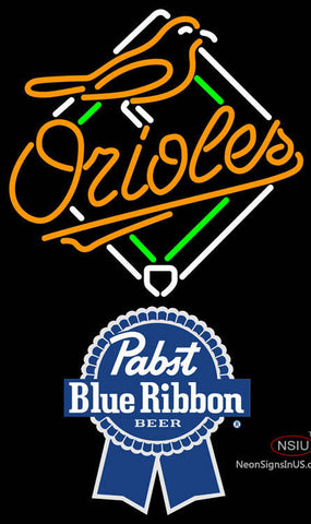 Pabst Blue Ribbon Baltimore Orioles MLB Neon Sign