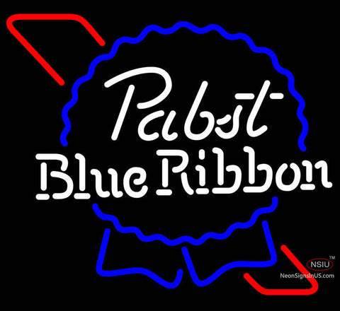 Pabst Blue Ribbon Black Box Neon Beer Sign x