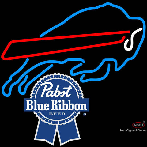 Pabst Blue Ribbon Buffalo Bills NFL Neon Sign   x