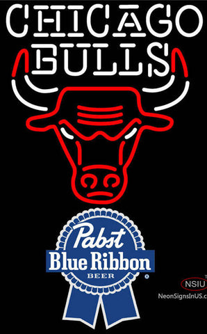 Pabst Blue Ribbon Chicago Bulls NBA Neon Sign