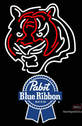 Pabst Blue Ribbon Cincinnati Bengals NFL Neon Sign