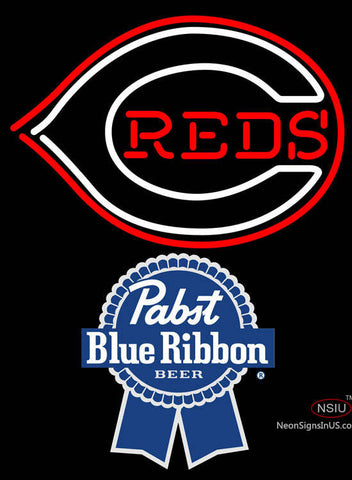 Pabst Blue Ribbon Cincinnati Reds MLB Neon Sign