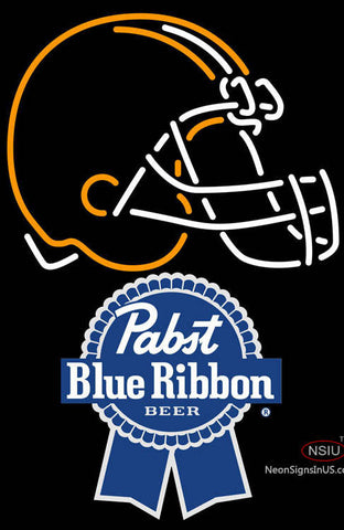 Pabst Blue Ribbon Cleveland Browns NFL Neon Sign