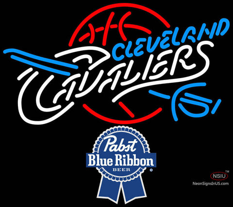Pabst Blue Ribbon Cleveland Cavaliers NBA Neon Sign