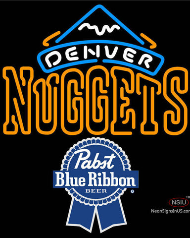 Pabst Blue Ribbon Denver Nuggets NBA Neon Sign