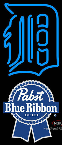 Pabst Blue Ribbon Detroit Tigers MLB Neon Sign  7