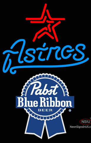 Pabst Blue Ribbon Houston Astros MLB Neon Sign  7