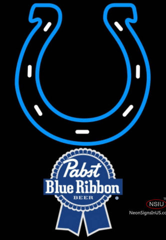 Pabst Blue Ribbon Indianapolis Colts NFL Neon Sign