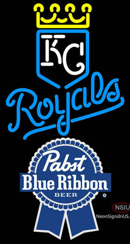 Pabst Blue Ribbon Kansas City Royals MLB Neon Signs