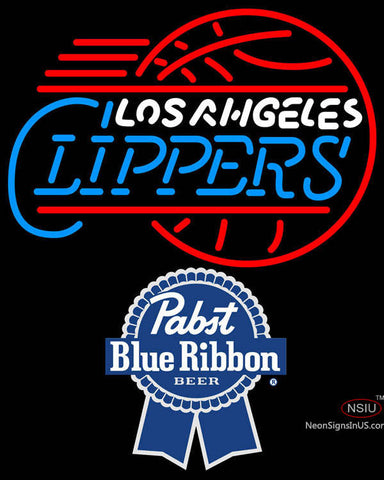 Pabst Blue Ribbon Los Angeles Clippers NBA Neon Sign