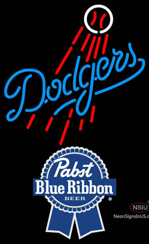 Pabst Blue Ribbon Los Angeles Dodgers MLB Neon Sign
