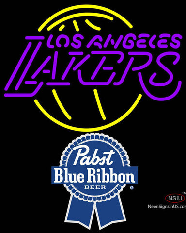 Pabst Blue Ribbon Los Angeles Lakers NBA Neon Sign