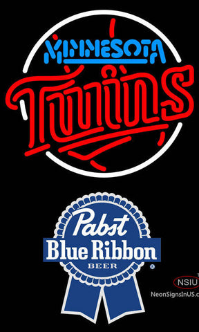 Pabst Blue Ribbon Minnesota Twins MLB Neon Sign