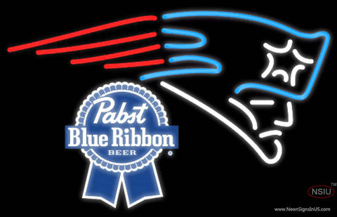 Pabst Blue Ribbon New England Patriots NFL Neon Sign