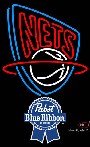 Pabst Blue Ribbon New Jersey Nets NBA Neon Sign