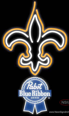 Pabst Blue Ribbon New Orleans Saints NFL Neon Sign