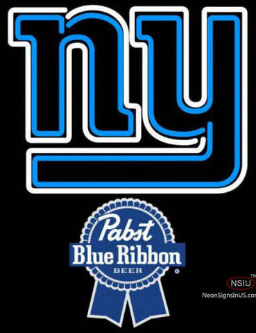Pabst Blue Ribbon New York Giants NFL Neon Sign