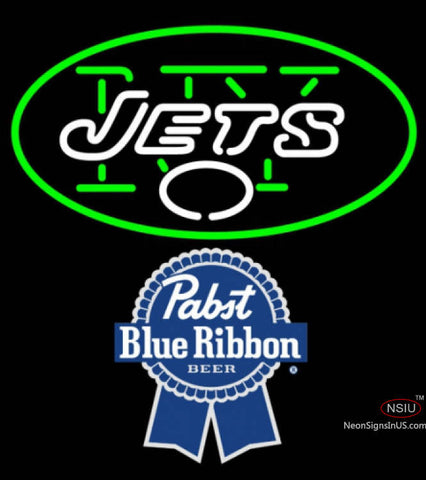 Pabst Blue Ribbon New York Jets NFL Neon Sign