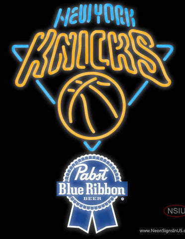 Pabst Blue Ribbon New York Knicks NBA Neon Sign