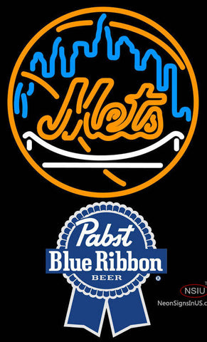 Pabst Blue Ribbon New York Mets MLB Neon Sign