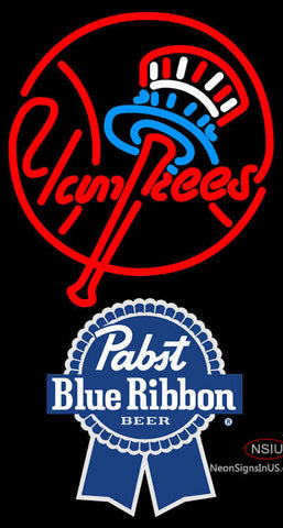 Pabst Blue Ribbon New York Yankees MLB Neon Sign