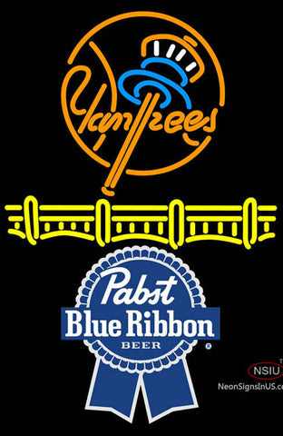 Pabst Blue Ribbon New York Yankees Neon Sign