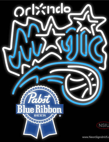 Pabst Blue Ribbon Orlando Magic NBA Neon Sign