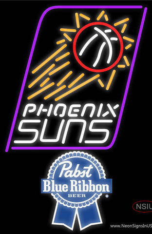 Pabst Blue Ribbon Phoenix Suns NBA Neon Sign
