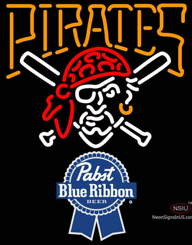 Pabst Blue Ribbon Pittsburgh Pirates MLB Neon Sign