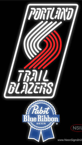 Pabst Blue Ribbon Portland Trail Blazers NBA Neon Sign