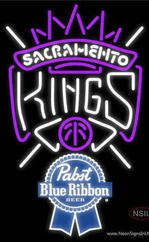 Pabst Blue Ribbon Sacramento Kings NBA Neon Sign