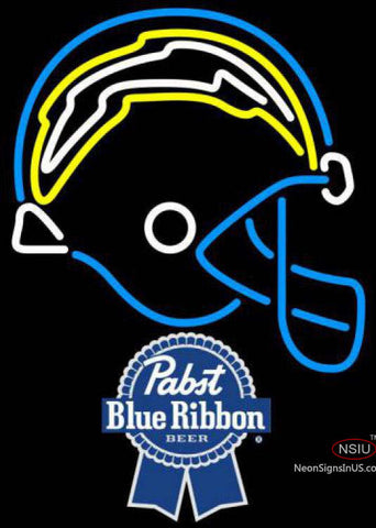 Pabst Blue Ribbon San Diego Chargers NFL Neon Sign  7