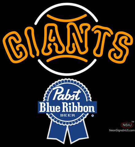 Pabst Blue Ribbon San Francisco Giants MLB Neon Sign