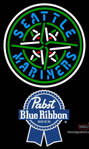 Pabst Blue Ribbon Seattle Mariners MLB Neon Sign