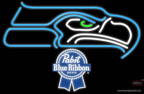 Pabst Blue Ribbon Seattle Seahawks NFL Neon Sign
