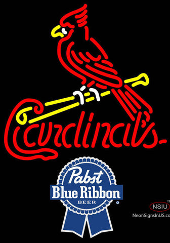 Pabst Blue Ribbon St Louis Cardinals MLB Neon Sign