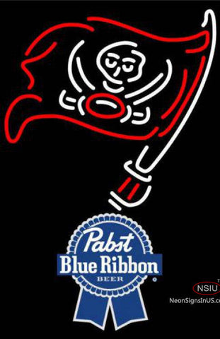 Pabst Blue Ribbon Tampa Bay Buccaneers NFL Neon Sign